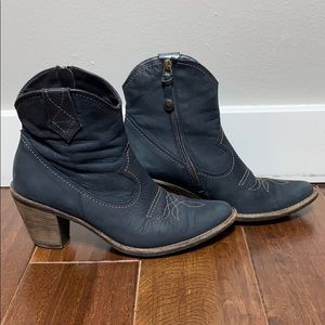 Paul Green - Navy Blue Western Bootie